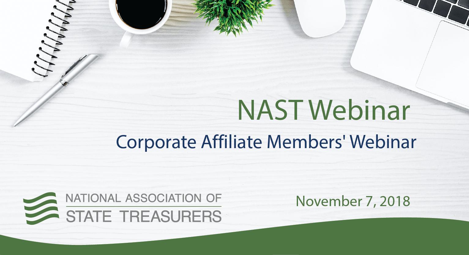 Corporate Affiliate Members' Webinar
