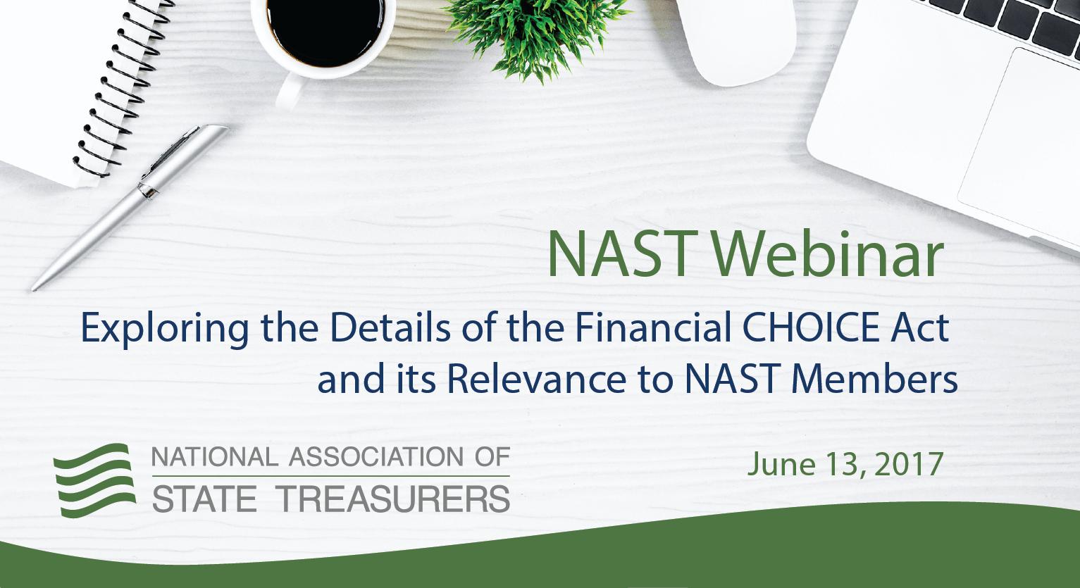NAST Webinar - Financial CHOICE Act