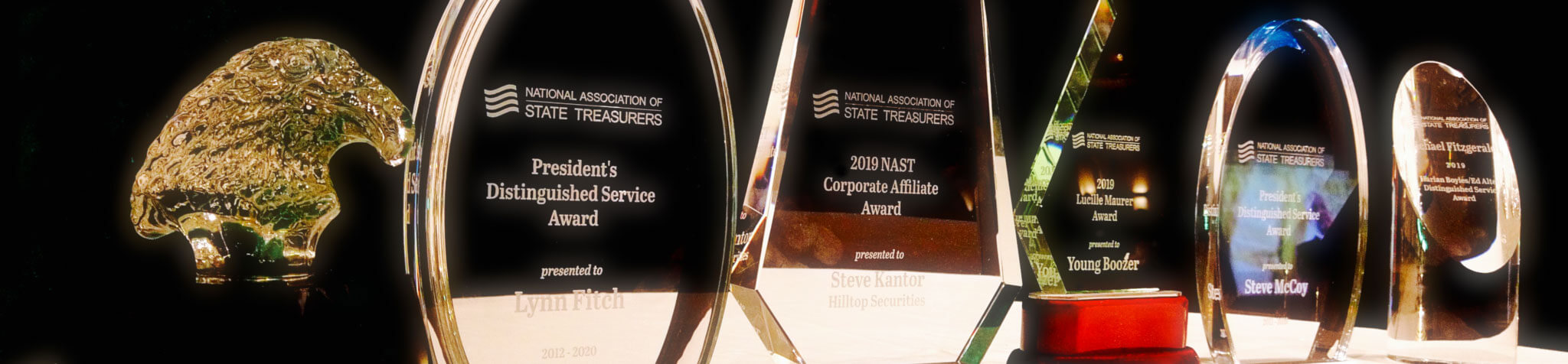 NAST awards on display