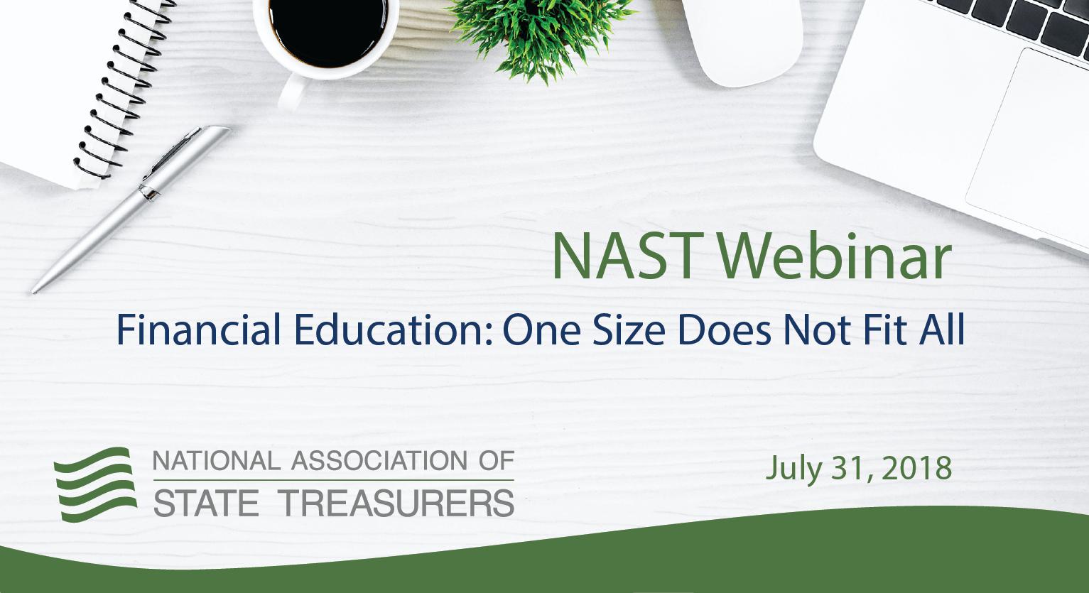 NAST Webinar - Financial Education