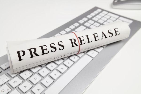 36045802 - press release written on newspaper